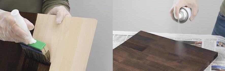 как покрасить мебельный щит своими руками