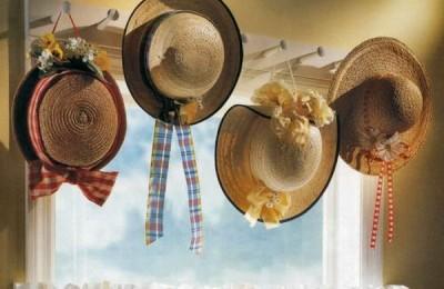 Фото красивого и практичного хранения шляп.