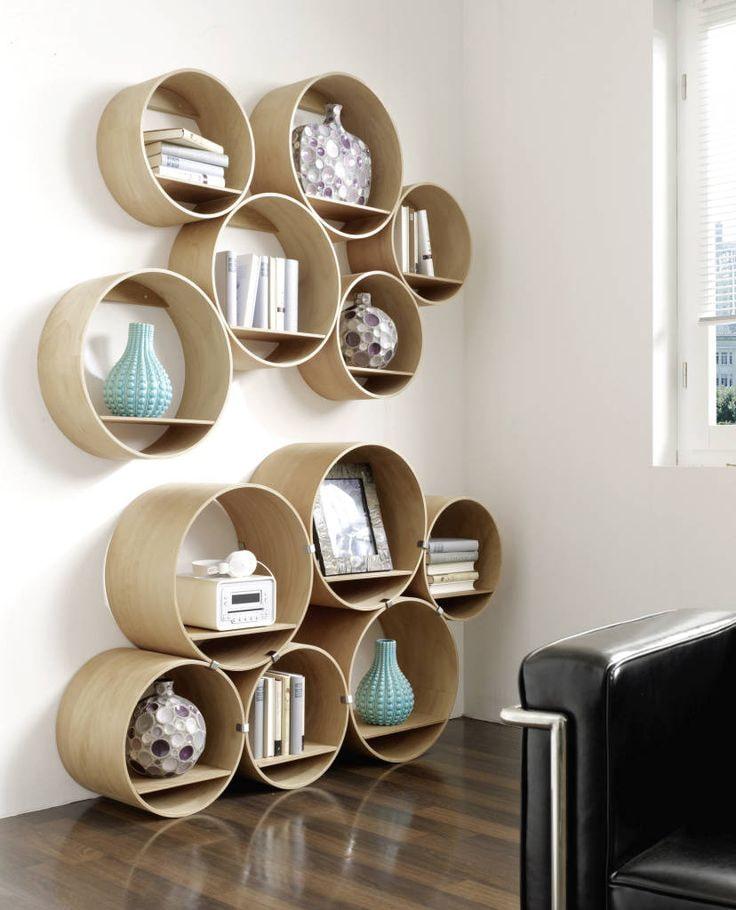 Из полок и модулей можно сделать красивую композицию, например, если их разместить в определенном порядке