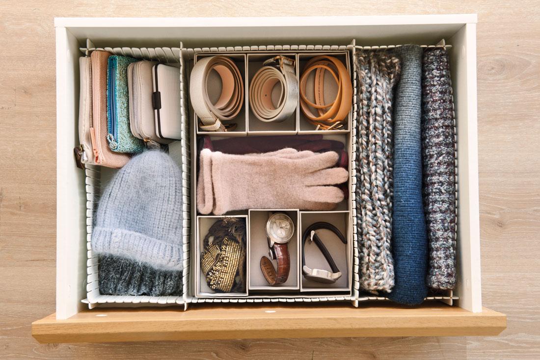Организованное хранение вещей.