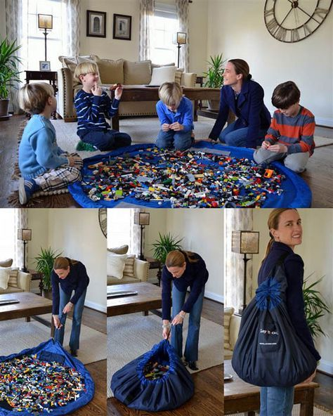Мат-мешок уберёт все мелкие игрушки.