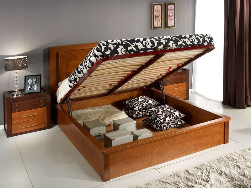 Пространство под кроватью можно использовать с пользой.