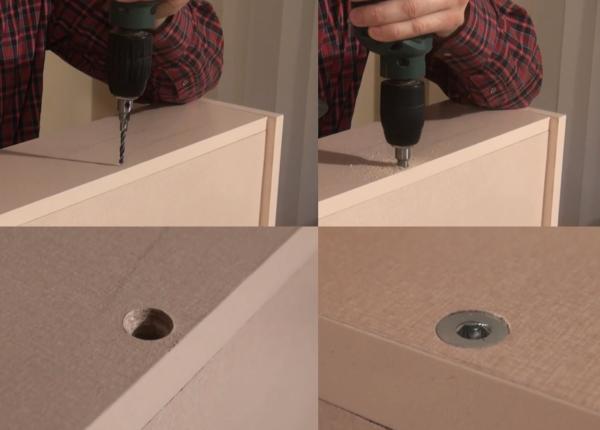 Форма сверла должна утолщаться к основанию, чтобы отверстие получалось с потаем под винт