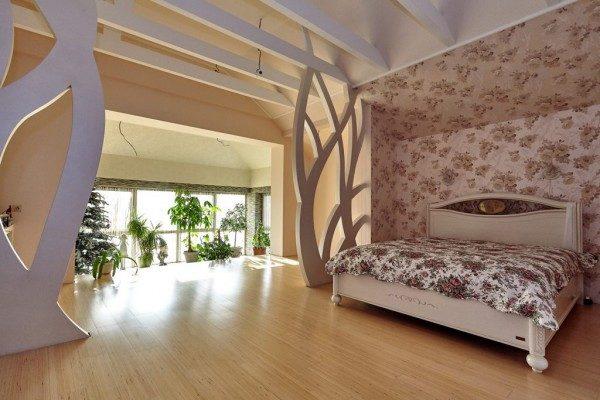 Фото спальни с уникальным декором