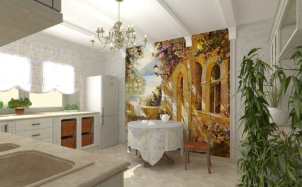 Фреска сделает вашу кухню неповторимой.