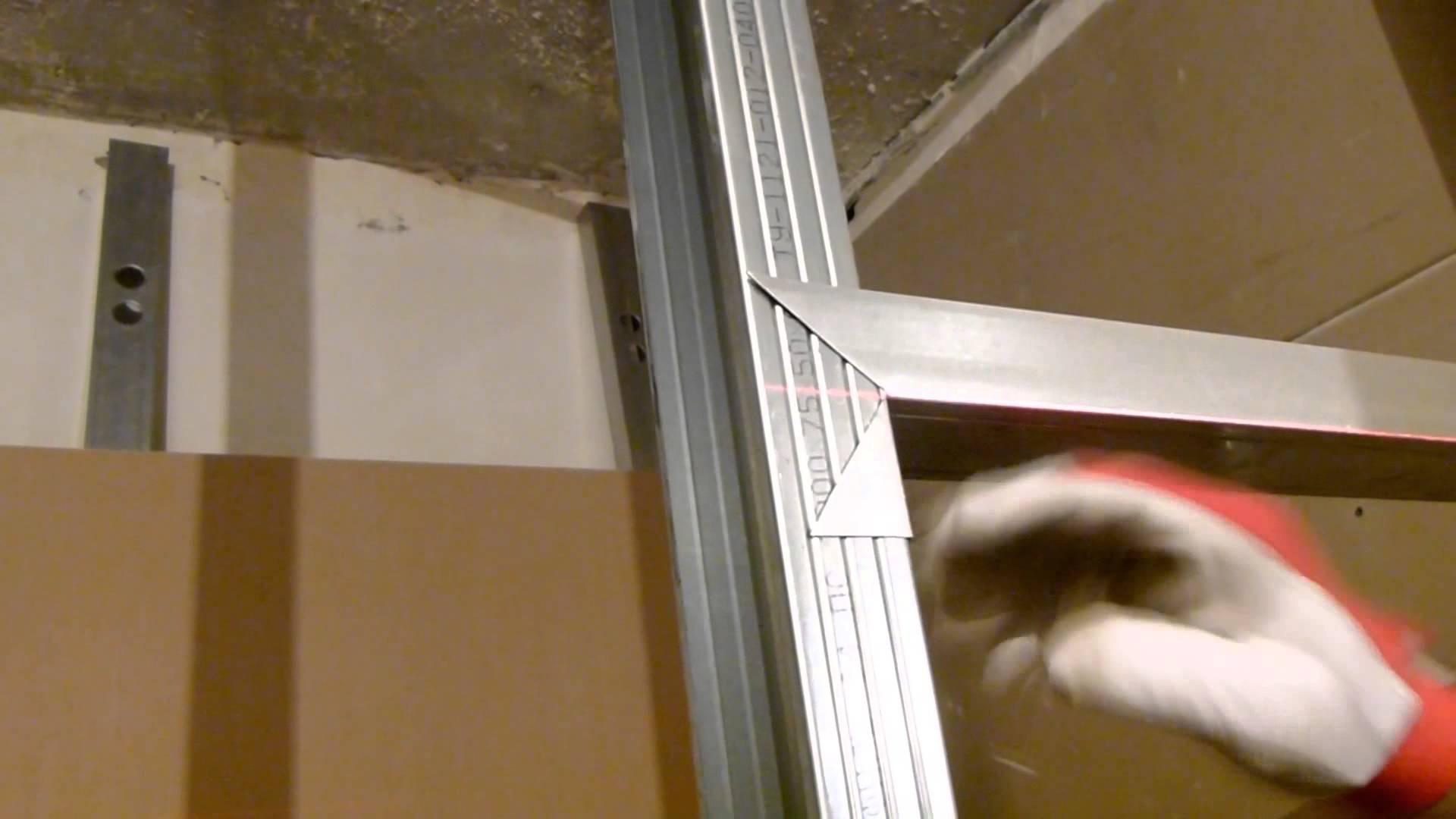 Как сделать стену из профиля для гипсокартона с фото