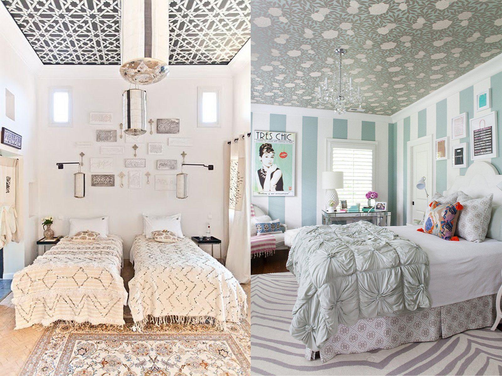 Обои на потолке современный дизайн фото холодильниках шарп