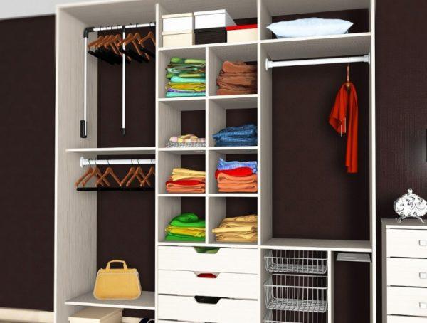 Грамотное наполнение обеспечивает удобство использования шкафа