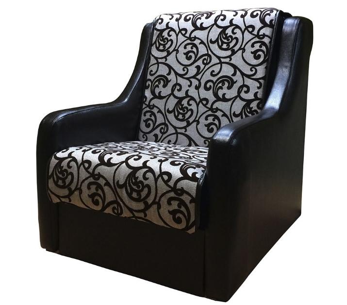 Сочетание экокожи на подлокотниках и шенилла на сиденье — отличное решение