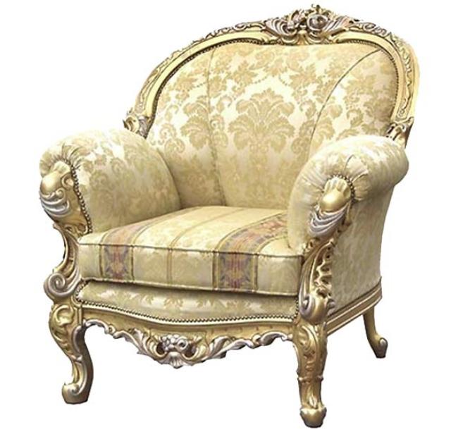 В классических конструкциях ножки — настоящее украшение кресла