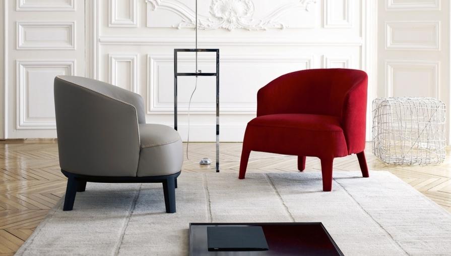 В одном помещении можно сочетать разные цвета и типы обивки, это выглядит стильно