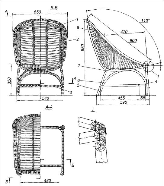 Габариты кресла могут быть разными