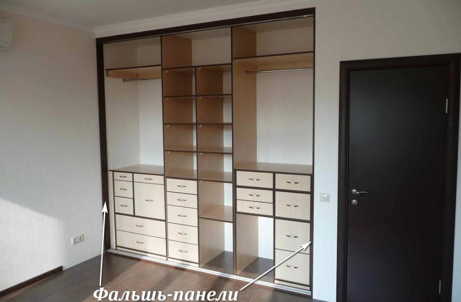 Фальшь панели закрывают конструктивные зазоры по периметру мебели.