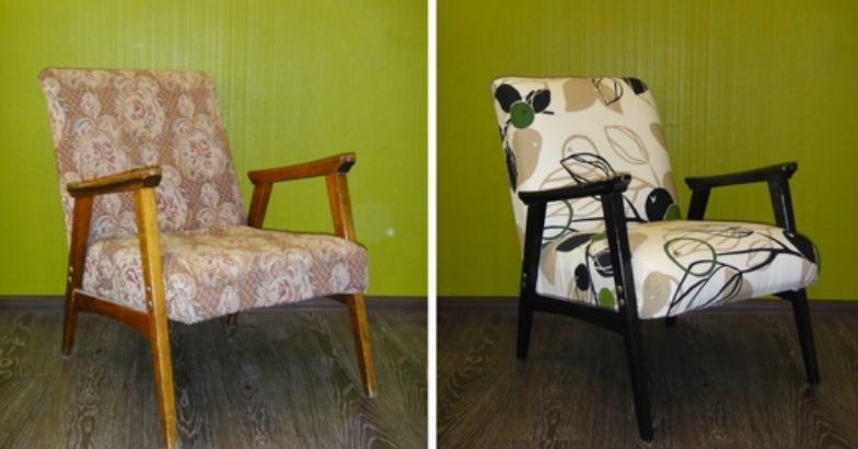 Пример того, как преображается восстановленное кресло