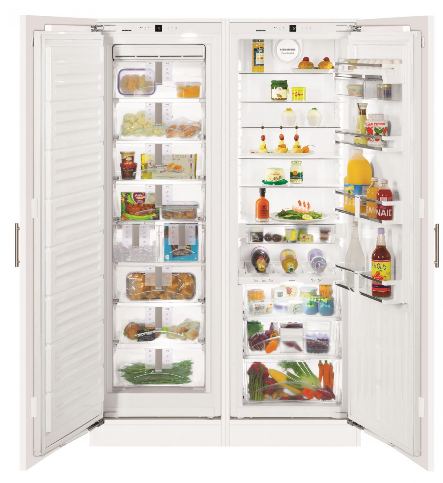 Существуют и двусторонние холодильники.