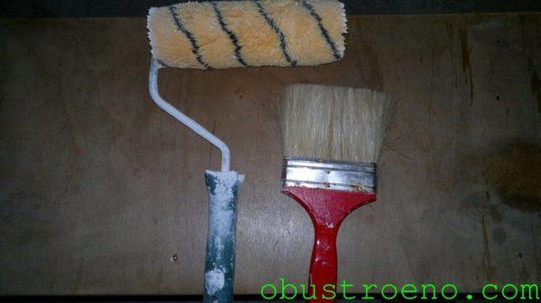 Инструменты для нанесения грунтовки.