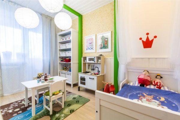 Использование шпаклёвки из ПВА допускается в детской спальне