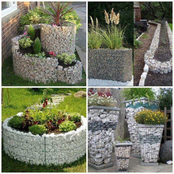 Из габионов можно сделать собственный сад камней.