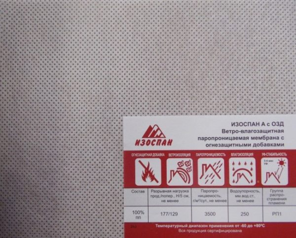 Изоспан А — качественная паропроницаемая мембрана от отечественного производителя