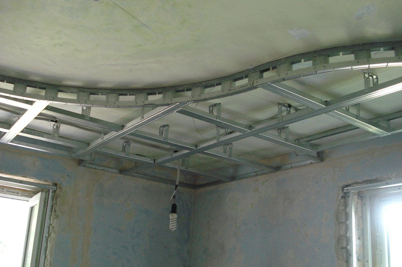Как правильно сделать двухуровневый потолок фото