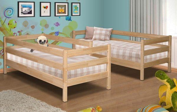 Каждый уровень двухэтажной кровати превращается в полноценный односпальный вариант буквально за полчаса-час