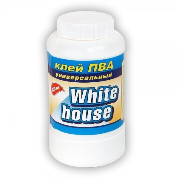 Клей ПВА – хорошее связующее вещество для замазки.
