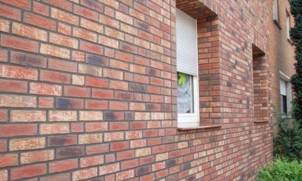 Клинкерная плитка на фасаде.