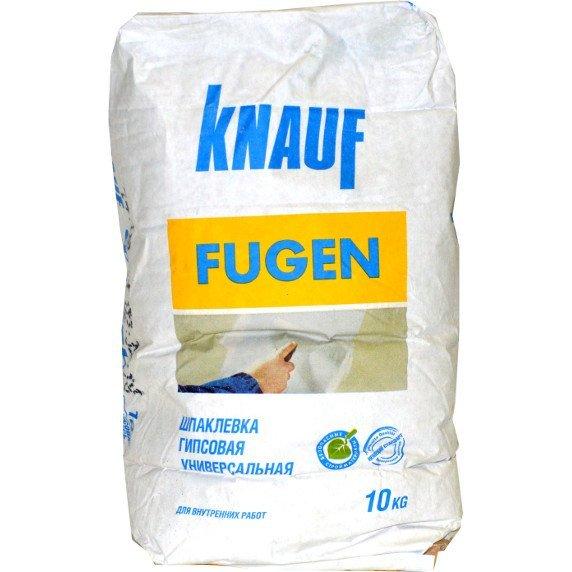 «Кнауф Фуген» выпускается в упаковках по 5, 10 и 25 кг
