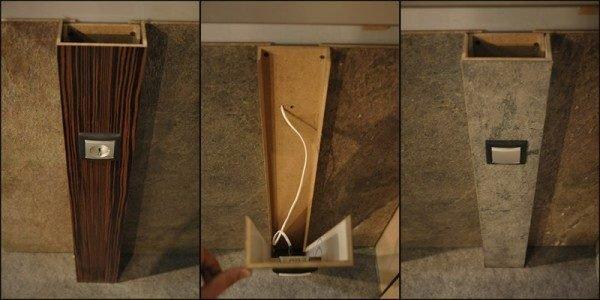 Когда отделка в деревянном доме не позволяет провести коммуникации скрытно, такие короба, имитирующие потолочные и стеновые балки, станут отличным решением проблемы