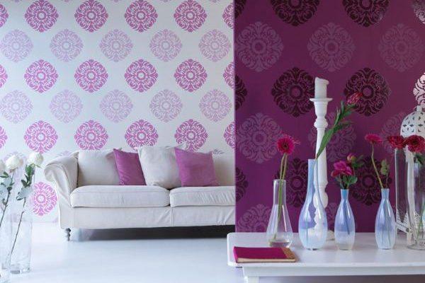 Комбинация различных оттенков фиолетового и белого является классическим приемом