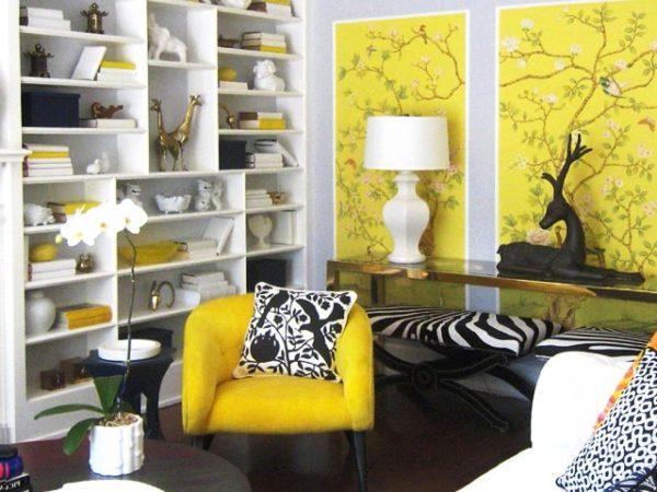 Комбинирование с желтым цветом.