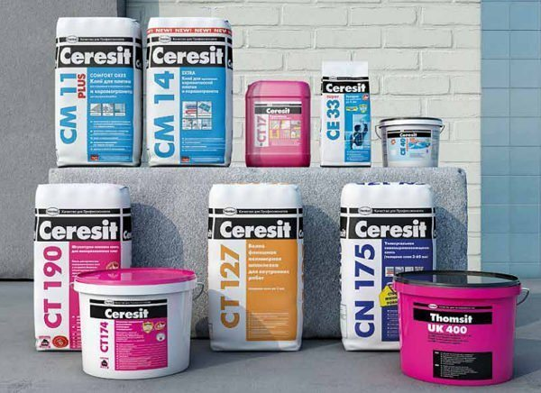Компания Ceresit выпускает широкий ассортимент строительных смесей