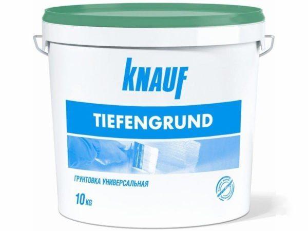 Компания Кнауф выпускает грунт для гипсокартона.