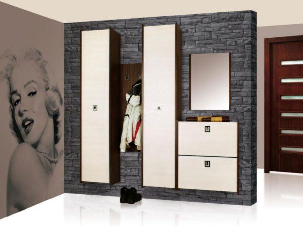 Контрастное сочетание светлых фасадов с темным оформлением мебельных корпусов идеально впишется в большинство современных лаконичных интерьеров