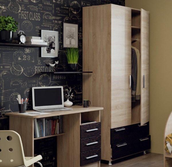Корпусная мебель выпускается комплектами, что очень удобно, ведь можно обставить комнату элементами из одной коллекции