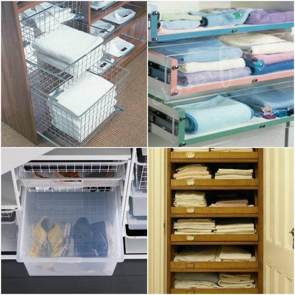 Корзины, пластиковые короба, выдвижные полки — удобные приспособления для хранения вещей