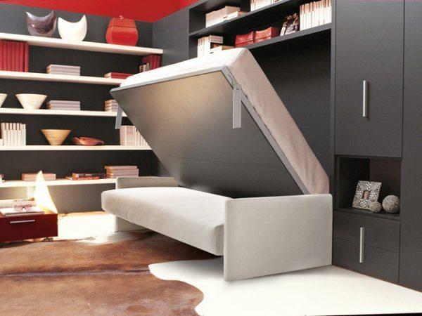 Кровати, способные трансформироваться в иные предметы мебельного интерьера — находка для малогабаритных квартир