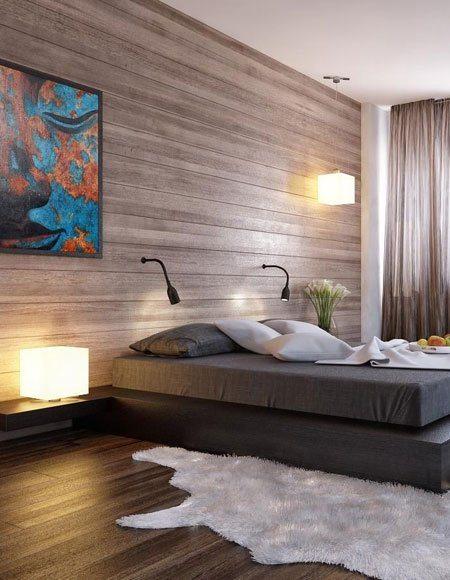 Ламинат можно использовать не только на полу, но и на стенах