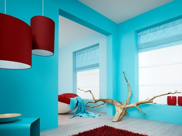 комната окрашенная латексной краской