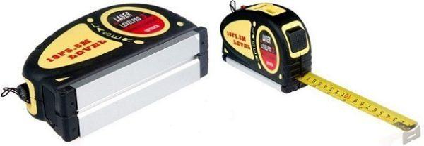 Лазерный уровень, совмещенный с рулеткой – современное решение