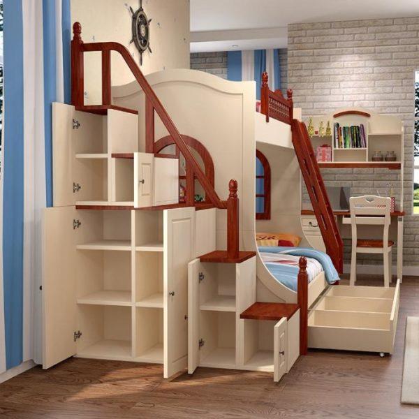 Лестница с функцией шкафчиков