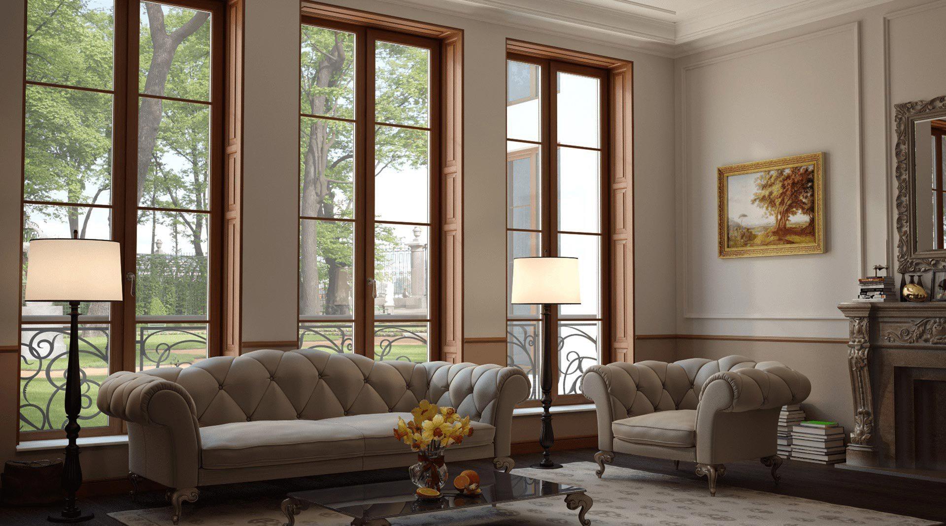 Окна из лиственницы: наличники и деревянные конструкции со ...