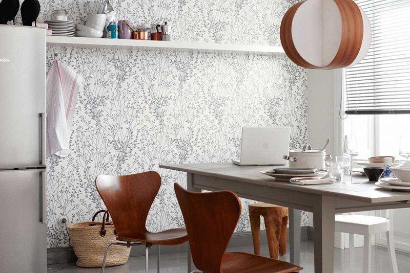 обои на маленькую кухню какие покрытия лучше выбрать для помещения