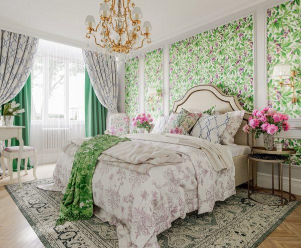 Материалы и цвета в провансальской спальне должны быть только натуральными.
