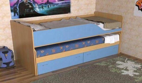 Модель Дуэт-2 предоставит детям два спальных места в ночное время и при этом не станет особо мешать их играм в дневное