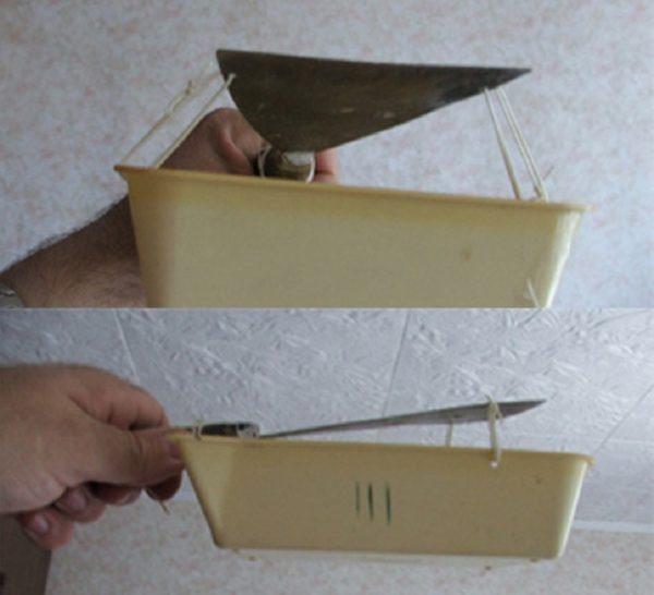 Модернизированный шпатель особенно удобен в зоне потолка