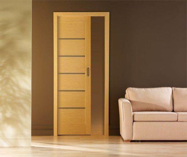 Мы разберем и вариант, в котором дверь прячется в перегородку — это очень удобно и смотрится необычно