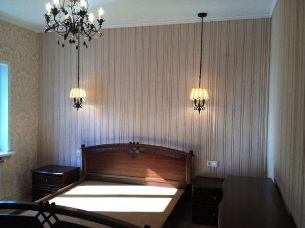 На фото – пример использования гусварблока в интерьере спальни