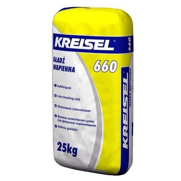 На фото — качественная известковая шпатлевка от немецкого производителя Kreisel
