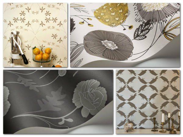 На фото показаны примеры экологически безопасных флизелиновых покрытий для стильной отделки стен